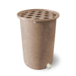 Cubo | Medium Adobe with Speckle | 55 Gallon Vertical | Polka Dot Top - Tijeras Rain Barrels