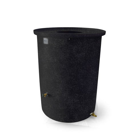 "Agua Fria | Black with Speckle | 360 Gallon Vertical | 17"" Basket Top - Tijeras Rain Barrels"