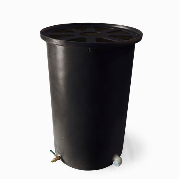 Cubo | Black | 200 Gallon Vertical | Pie Shaped - Tijeras Rain Barrels