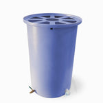 Cubo | Bright Blue | 100 Gallon Vertical | Pie Shaped - Tijeras Rain Barrels