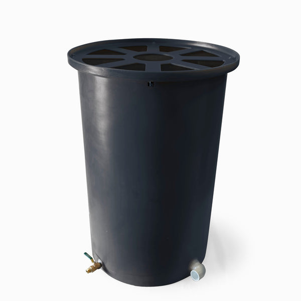 Cubo | Dark Grey | 200 Gallon Vertical | Pie Shaped - Tijeras Rain Barrels