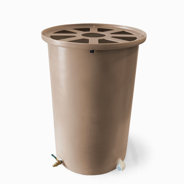 Cubo | Medium Adobe | 200 Gallon Vertical | Pie Shaped - Tijeras Rain Barrels