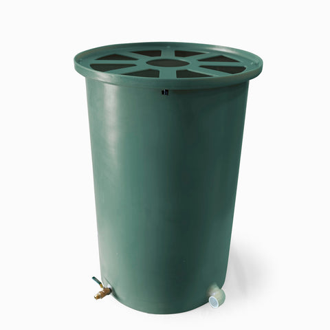 Cubo | Sherwood Green | 100 Gallon Vertical | Pie Shaped - Tijeras Rain Barrels