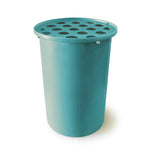 Cubo | Turquoise | 55 Gallon Vertical | Polka Dot Top - Tijeras Rain Barrels
