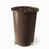 Cubo | Dark Adobe with Speckle | 100 Gallon Vertical  | Pie Shaped - Tijeras Rain Barrels