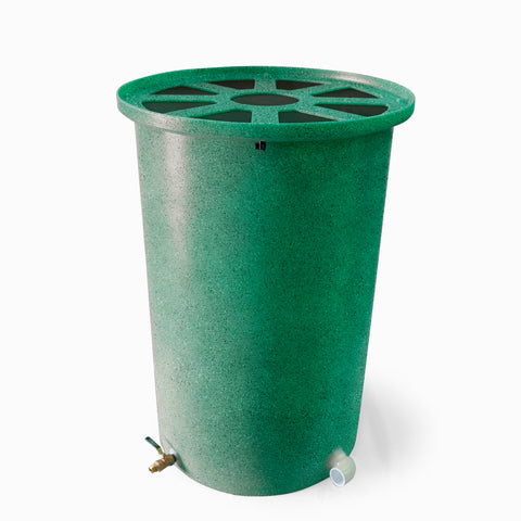 Cubo | Bright Green with Speckle | 55 Gallon Vertical | Pie Shaped - Tijeras Rain Barrels