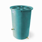 Agua Fria | Turquoise With Speckle | 100 Gallon Vertical | Canale Flat Top (Pie Shaped) - Tijeras Rain Barrels