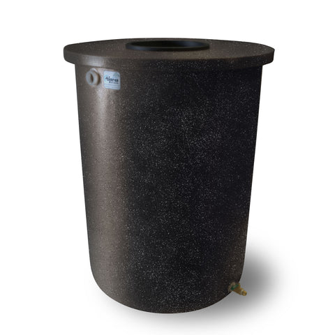 Villa | Tijeras Rain Barrel | Black with Speckle | 360 Gallon Vertical - Tijeras Rain Barrels