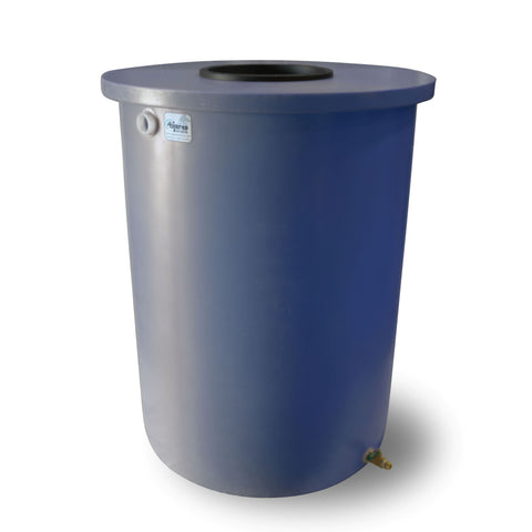 Villa | Tijeras Rain Barrel | Blueberry | 200 Gallon Vertical