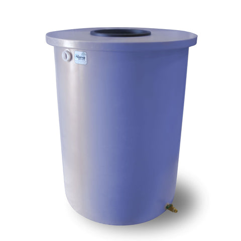 Villa | Tijeras Rain Barrel | Bright Blue | 360 Gallon Vertical - Tijeras Rain Barrels