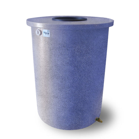 Villa | Tijeras Rain Barrel | Bright Blue with Speckle | 200 Gallon Vertical - Tijeras Rain Barrels