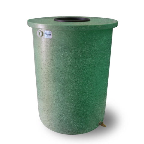 Villa | Tijeras Rain Barrel | Bright Green with Speckle | 55 Gallon Vertical - Tijeras Rain Barrels