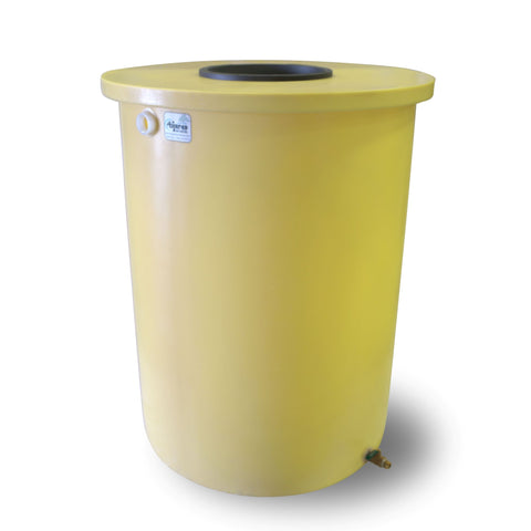 Villa | Tijeras Rain Barrel | Bright Yellow | 55 Gallon Vertical - Tijeras Rain Barrels