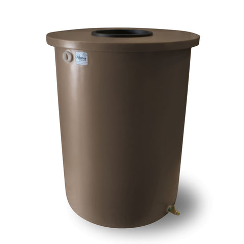 Villa | Tijeras Rain Barrel | Dark Adobe | 55 Gallon Vertical
