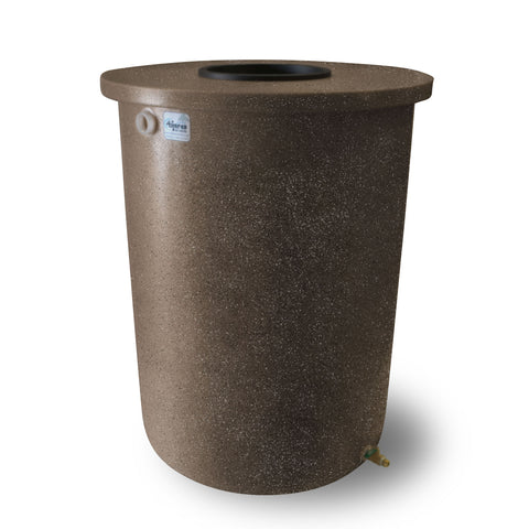 Villa | Tijeras Rain Barrel | Dark Adobe with Speckle | 360 Gallon Vertical