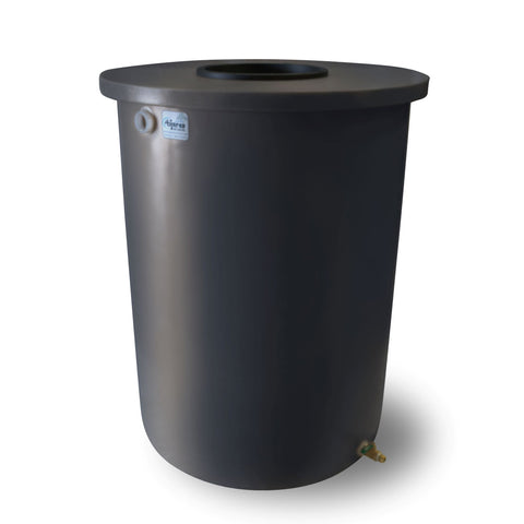 Villa | Tijeras Rain Barrel | Dark Grey | 200 Gallon Vertical - Tijeras Rain Barrels