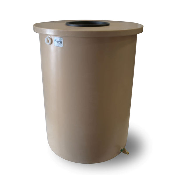 Villa | Tijeras Rain Barrel | Latte | 55 Gallon Vertical