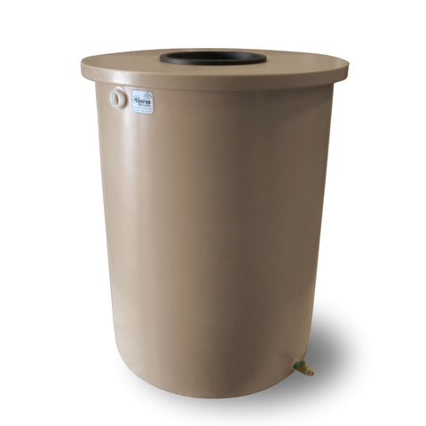 Villa | Tijeras Rain Barrel | Light Adobe | 360 Gallon Vertical - Tijeras Rain Barrels