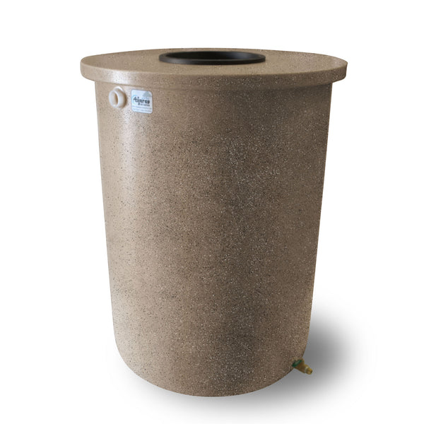 Villa | Tijeras Rain Barrel | Light Adobe with Speckle | 55 Gallon Vertical - Tijeras Rain Barrels