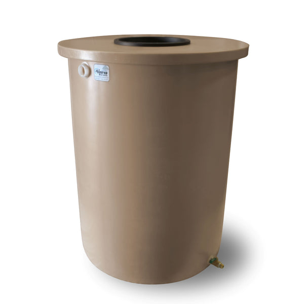 Villa | Tijeras Rain Barrel | Medium Adobe | 360 Gallon Vertical - Tijeras Rain Barrels