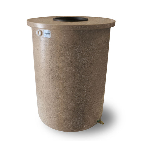 Villa | Tijeras Rain Barrel | Medium Adobe with Speckle | 55 Gallon Vertical - Tijeras Rain Barrels