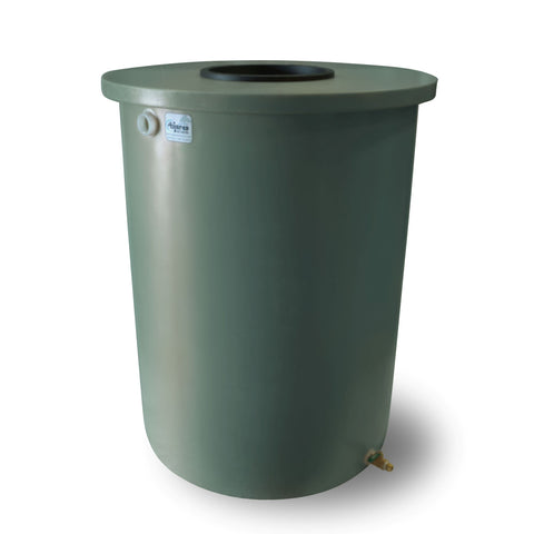 Villa | Tijeras Rain Barrel | Sherwood Green | 360 Gallon Vertical