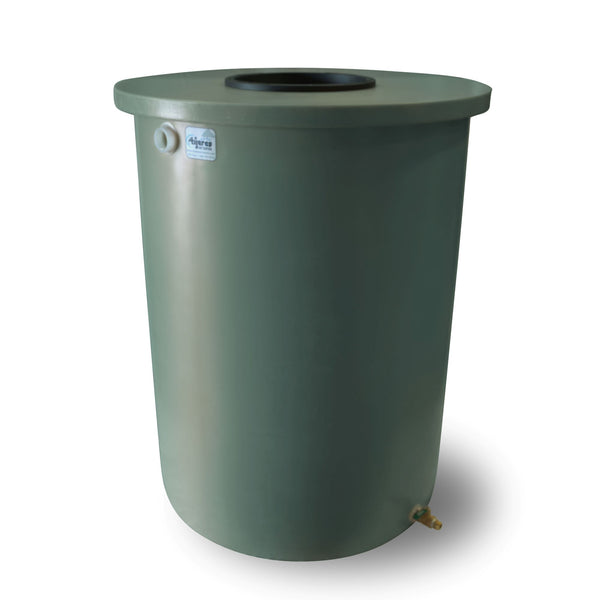 Villa | Tijeras Rain Barrel | Sherwood Green | 55 Gallon Vertical - Tijeras Rain Barrels