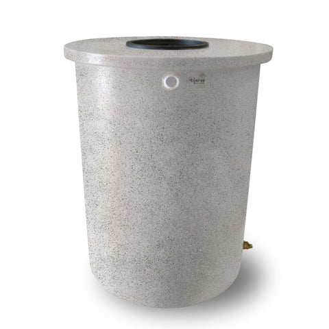 Villa | Tijeras Rain Barrel | White with Speckle | 360 Gallon Vertical - Tijeras Rain Barrels