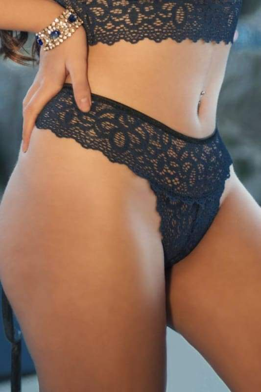 Sexy Blue Comfy Lacy Panty