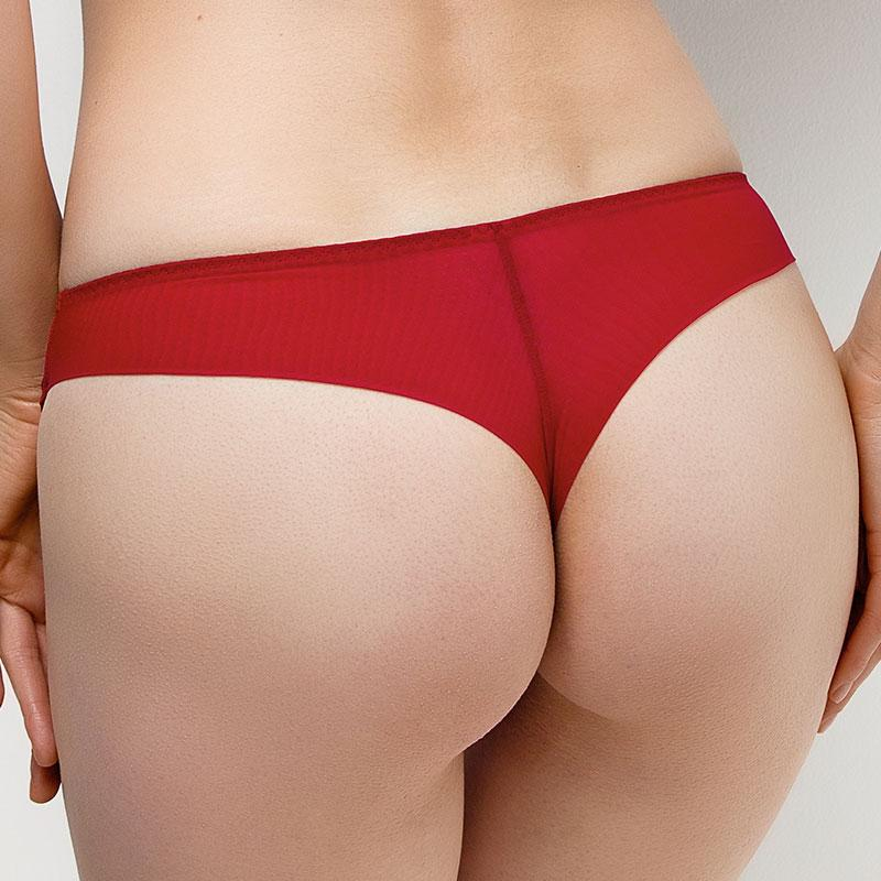 Trendy Semi-Sheer Mesh Tanga Panty