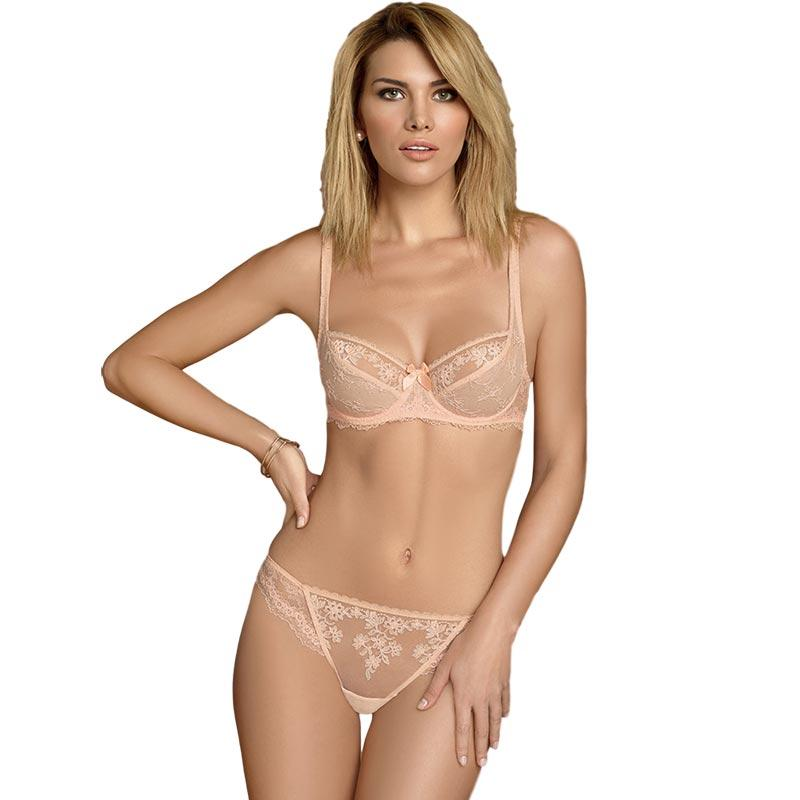 SHEER LACE TULIP BRA