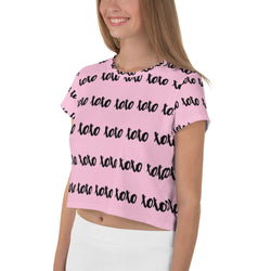 Xoxo Pink Cropped Top