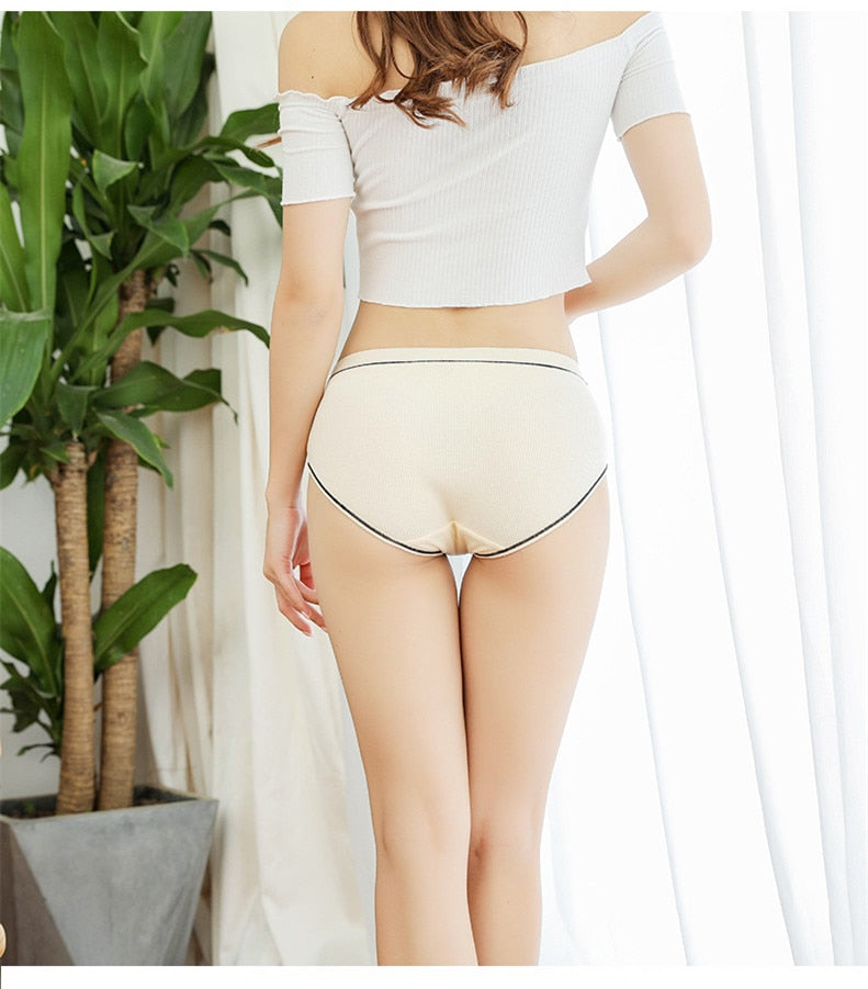 Brand New Striped Cotton Mid-Rise Panties