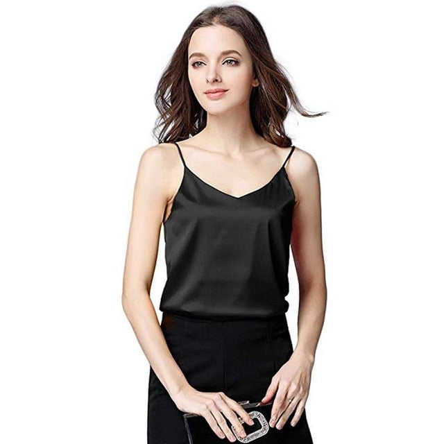 Women Sexy Silk Tank Top