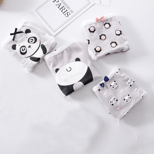 Panda Printed Underpants for Young Girls