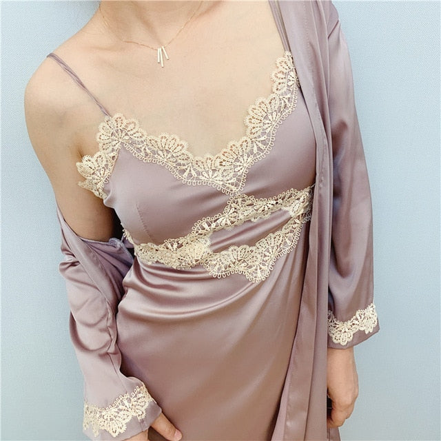 Women Night Robe and Gown Sets