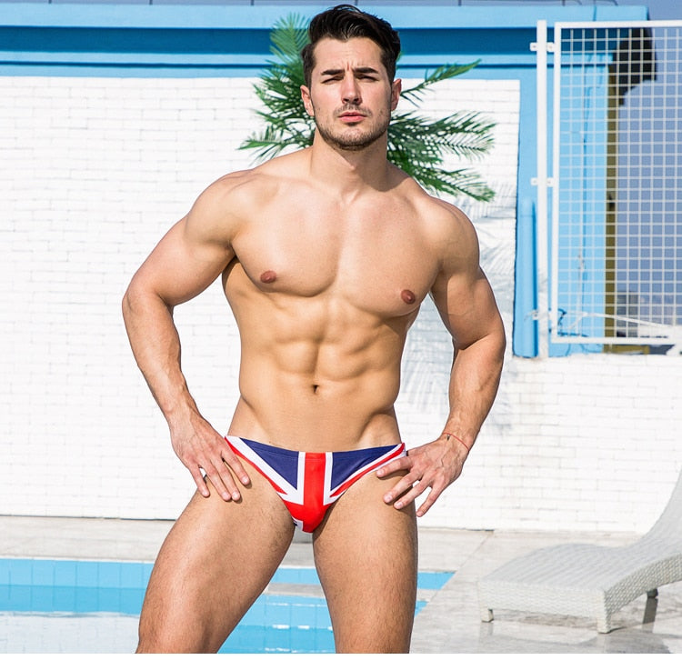 Flag print swimwear briefs bikini Boxers