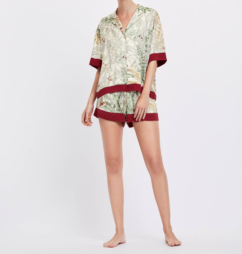 Short Sleeve Pajamas Set Shorts