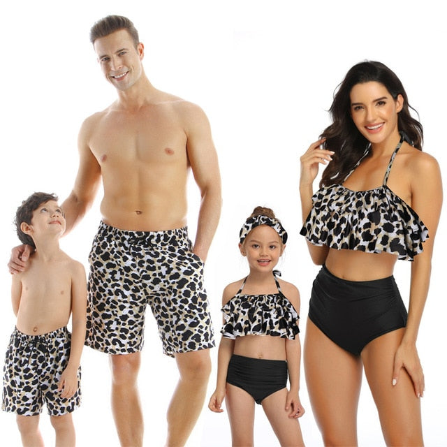 Colorful Summer Family Swimsuit