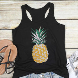 New Cute Pineapple Print Summer Tank Top for Women