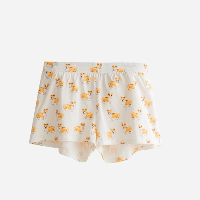 Cute Corgi Print Sleep Pajama Bottoms