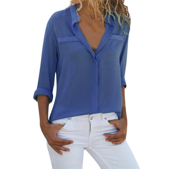 Women's Long Sleeve Loose Top Blouse