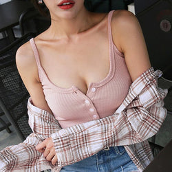 New Sexy Women Cotton Casual Crop Top