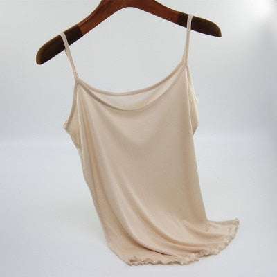 New Real Silk Camis Halter Tops