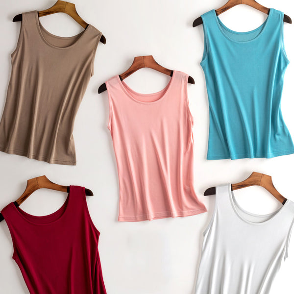 Women Natural Silk Cami Tank Top