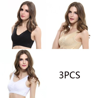 3pcs Set Cross Side Bralette