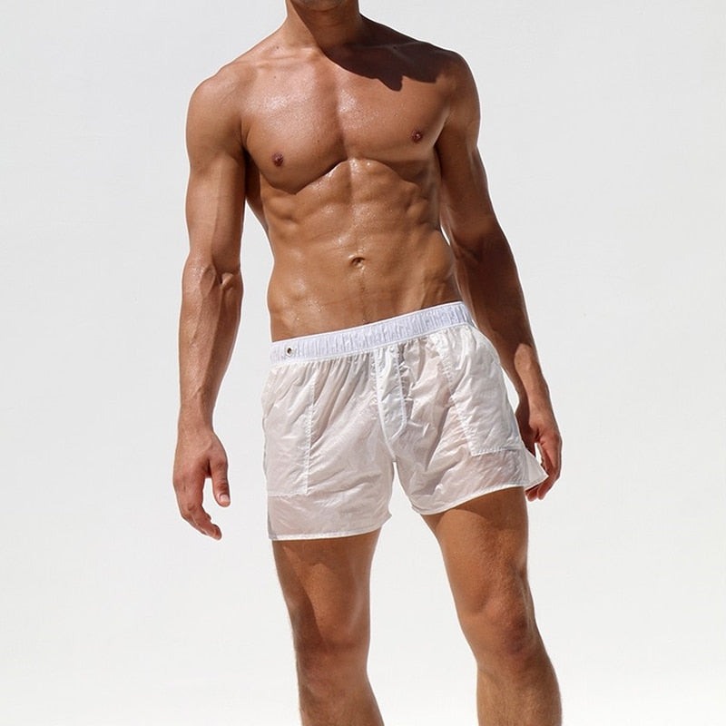 Sexy Fully Transparent Mens Casual Shorts