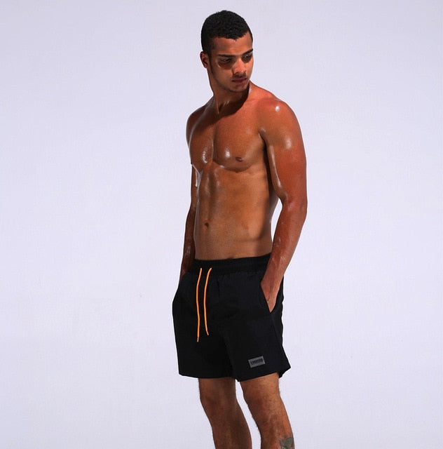 Summer men's quick-drying swim shorts