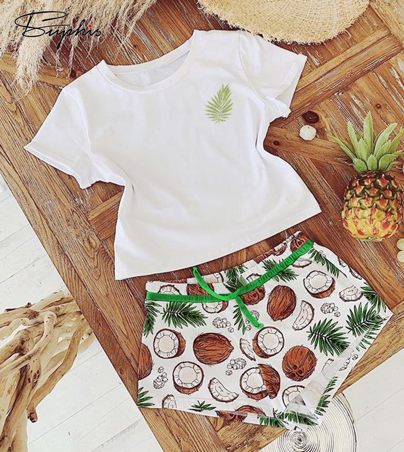 Coconut Print Pyjamas Set