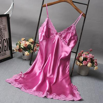 Lace Deep V-neck Nightdress